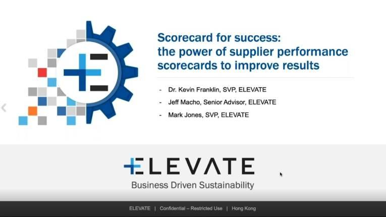 webinar scorecard for success the power of supplier performance